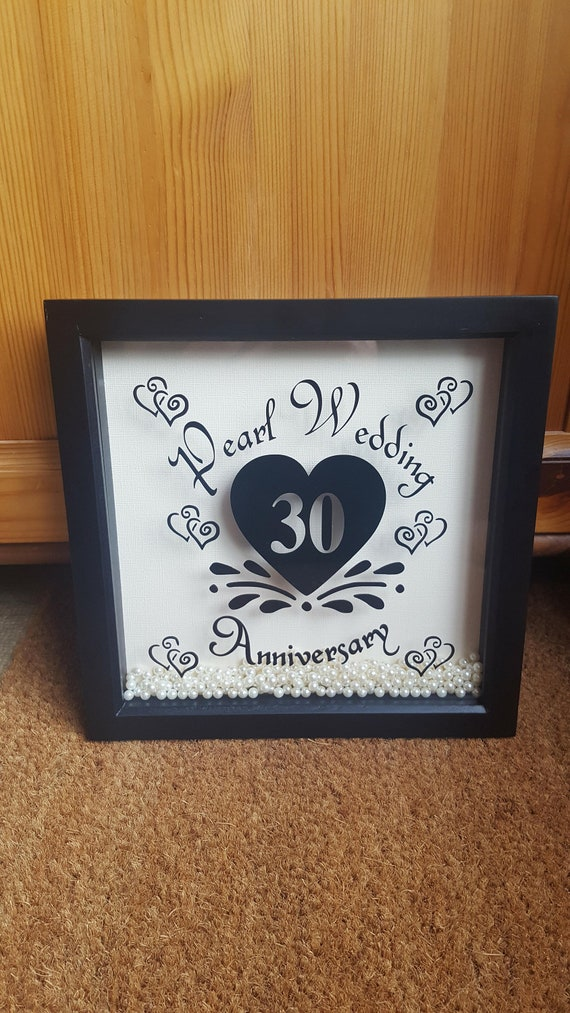 30th Anniversary Box Frame