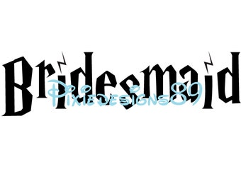 Harry Potter 'Bridesmaid'  - Iron On T-Shirt Transfer – INSTANT DOWNLOAD