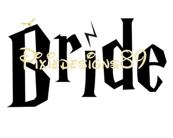 Harry Potter 'Bride'  - Iron On T-Shirt Transfer – INSTANT DOWNLOAD