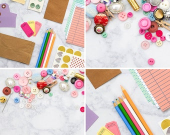 DIY Stock Photos for Crafters   Craft & DIY Styled Stock Photography   Set of 4 Hi-Res Images