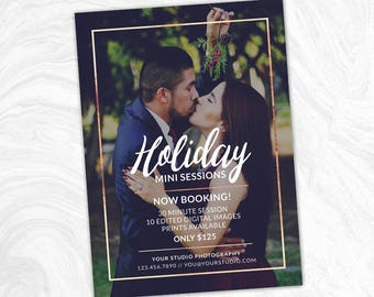 Holiday Mini Session Marketing Board - Christmas Mini - Photoshop template - INSTANT DOWNLOAD - Photographer Marketing - PSD Template - MS11