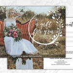 Photography Gift Certificate Template, Photoshop Gift Card Template, Photography Studio Gift Voucher, Photo Gift Card, Printable, PSD, GC4