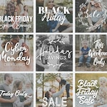 Black Friday Photography Overlays, Sale, Word Art, Photo Quotes, Holiday Photo Overlays, Photoshop Templates, PSD files, PNG Overlays