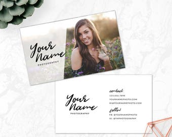 Photography business card template etsy instant download business card photoshop template photography business card template senior psd template calling card template bc11 reheart Image collections