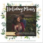Holiday Minis Marketing Board - Christmas Mini Session Photoshop Template - INSTANT DOWNLOAD - Photographer Marketing - PSD Template -MS34