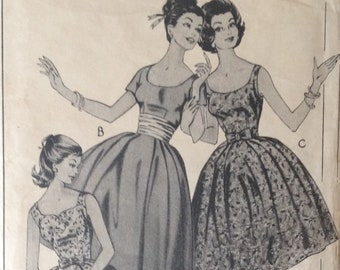 Vintage 1950s Style 1206 Occasion Dress Sewing Pattern - 34 inch bust