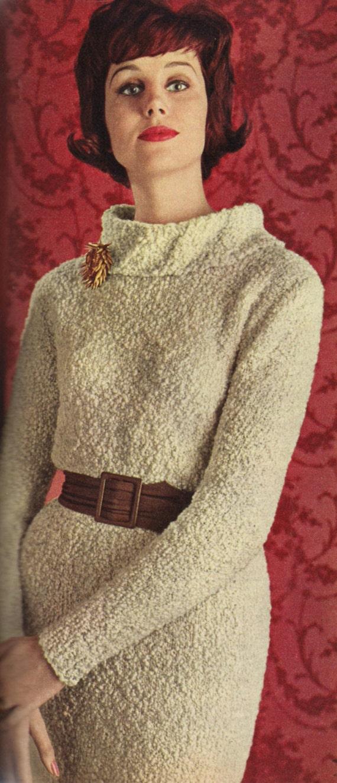 Vintage 1961 Knitting Pattern Ladies Boucle Dress 3 Etsy
