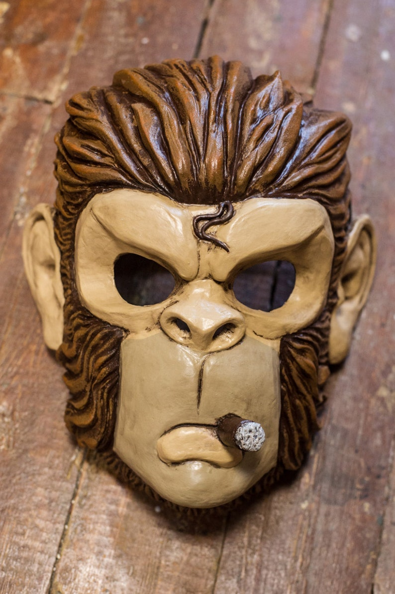 Inspired Space Monkey GTA mask game Halloween cosplay  f1d5e6f133f4