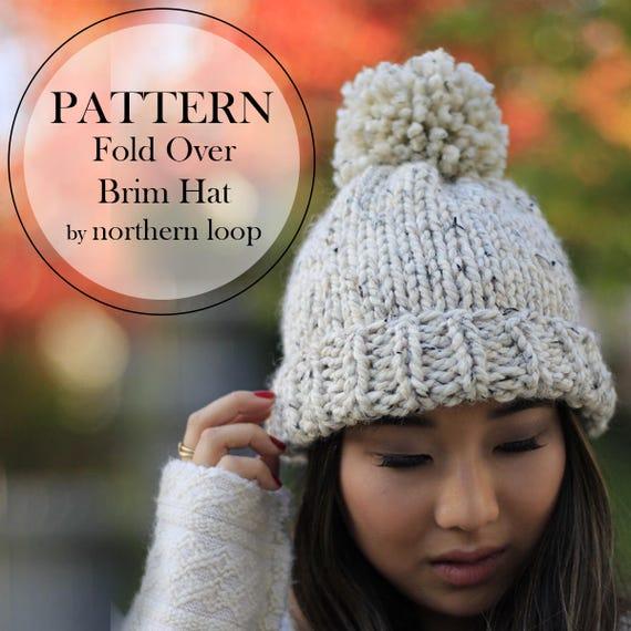 Hat Knitting Pattern Knit Beanie Chunky Pom Pom Hat Etsy