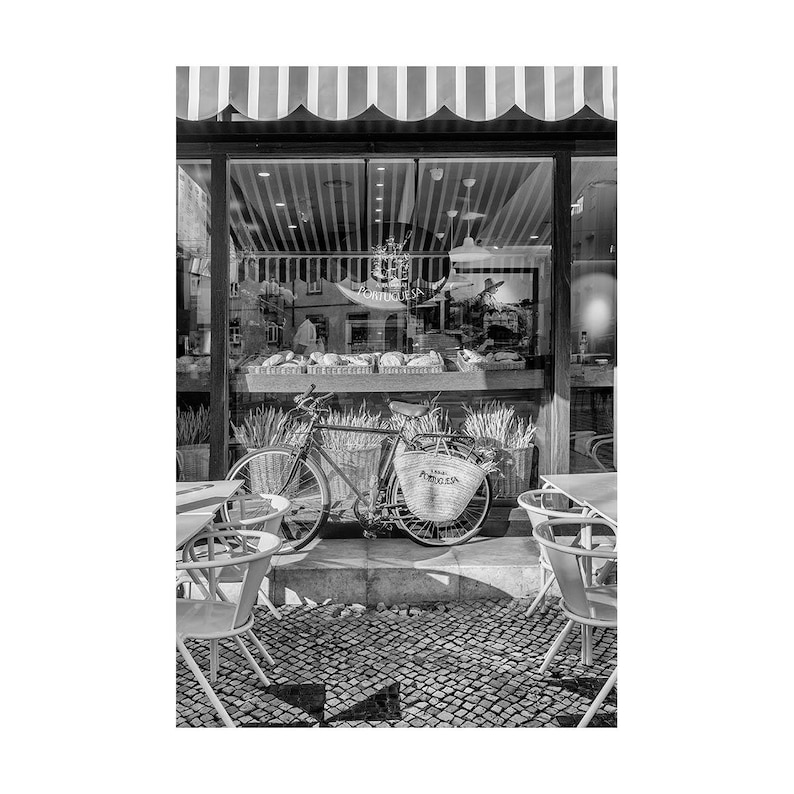 Wandbilder für Küche in Schwarzweiß oder Sepia, Reisefotografie, Esszimmer  Kunst von Lissabon Portugal Bäckerei