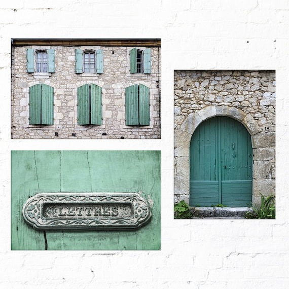 Set of 3 prints for living room art or foyer decor French | Etsy