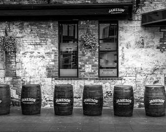 Jameson Irish Whiskey Kitchen Wall Decor, Whiskey Art, Dining Room Wall Art, Jameson Whiskey photo, Dublin Ireland photography