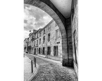 Living room Decor, Bordeaux Art Print, France Photography, Bordeaux Wall Art, Black & White Photo, Architecture Picture, Europe Cityscape