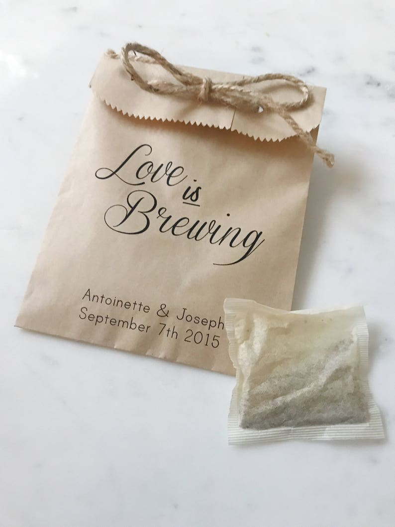 Wedding Favor Bags Love Is Brewing Coffee Beans Or Tea Bags Etsy