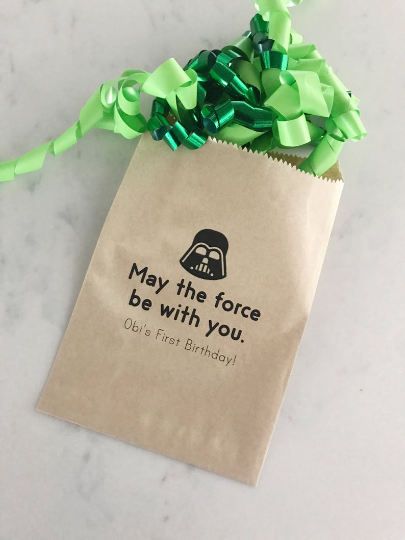 Star Wars Favor Bags Kids Birthday Collection