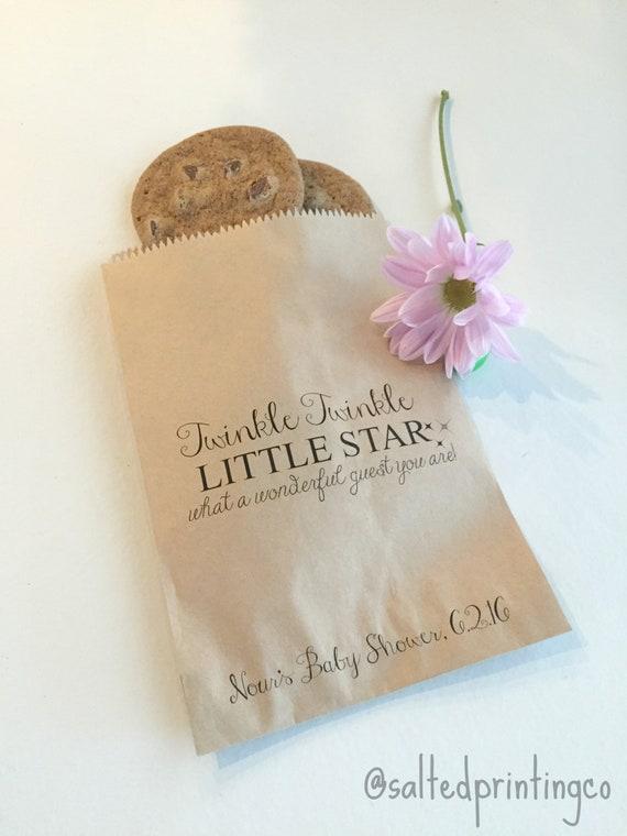 Baby Shower Favor Bags Twinkle Twinkle Little Star Favor Etsy