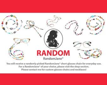 RANDOM RandomJane glasses chain, colorful beaded, eco friendly hippie summer fashion accessory, eye glasses, sun glasses, made in Vienna