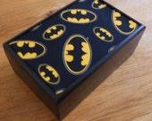 Batman Box SuperHero Storage box Batman trinket keepsake stationery box Batman stash box Superhero Box