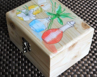 Aromatherapy oils storage box