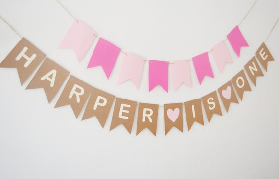 Rose gold customised hen night party banner personalised bunting decoration
