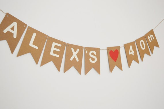 Personalised Birthday Bunting Party Decorations