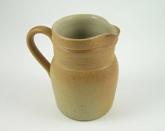 Pitcher or water jug stoneware Berry handmade water jug not much glazed light brown     Tableware France vintage 1980