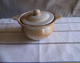 Sugar in Brown stoneware | Vintage French 1970 s