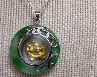 Golden Dragon necklace / Mahjongg jewelry / Spinning Dragon / Mah jong accessory / Mahjong novelty gift