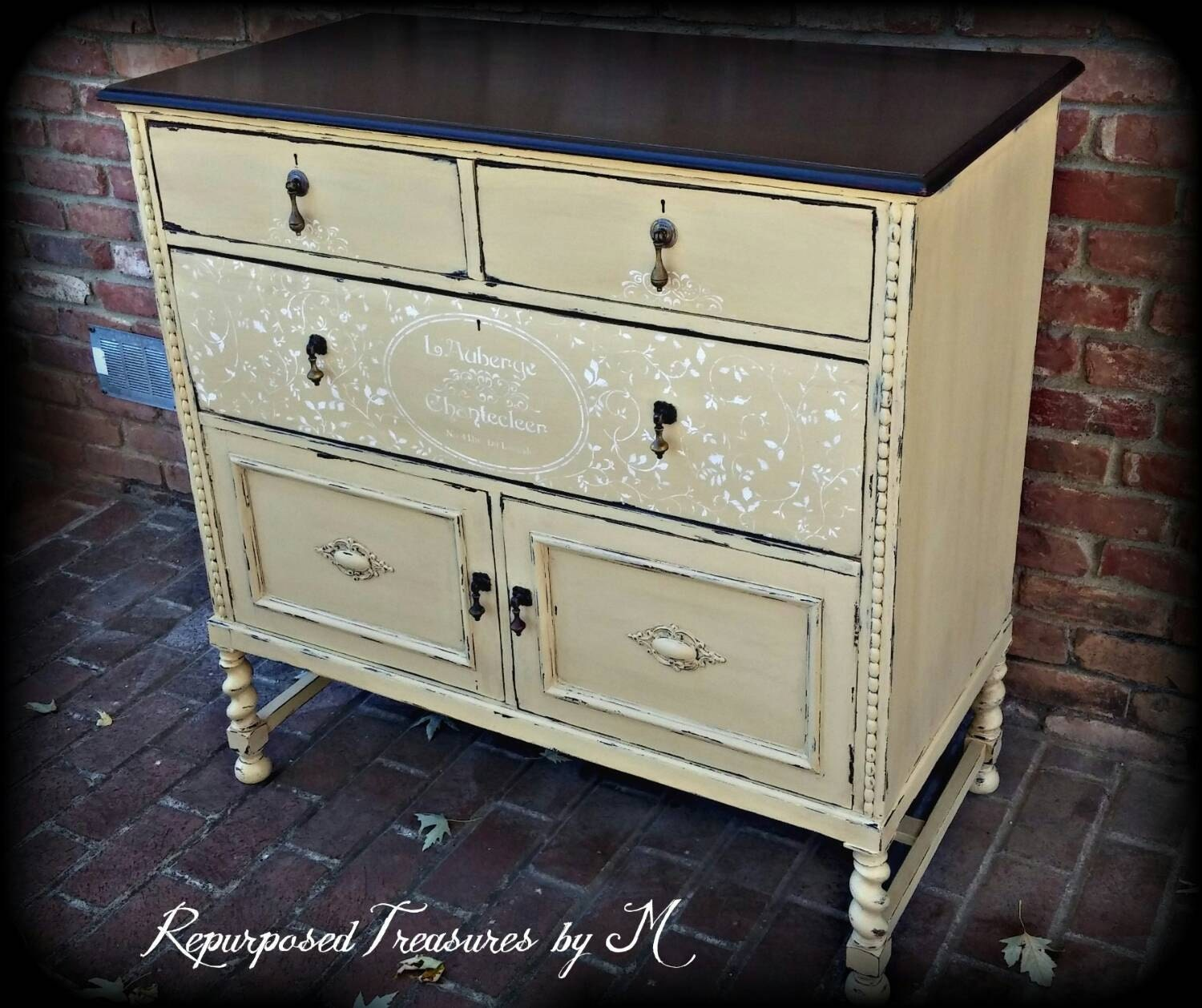 SOLD SOLD Painted buffet / painted shabby chic buffet /   Etsy