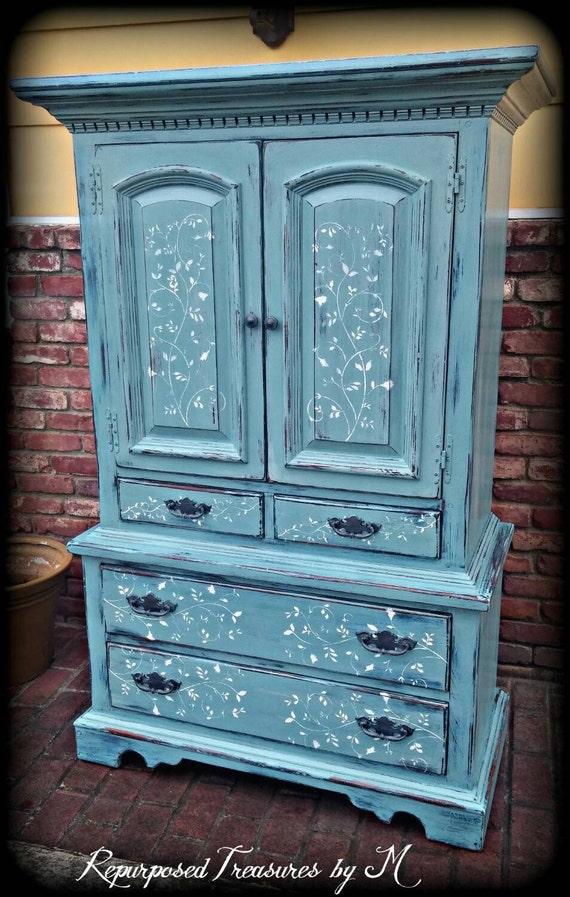 Sold Sold Vintage Armoire Blue Armoire Children S Etsy