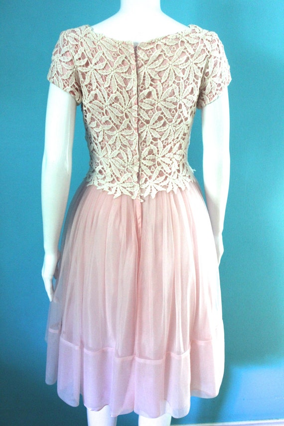 50's/60's Prom Dress   Petal Pink Late 50's/ Earl… - image 6