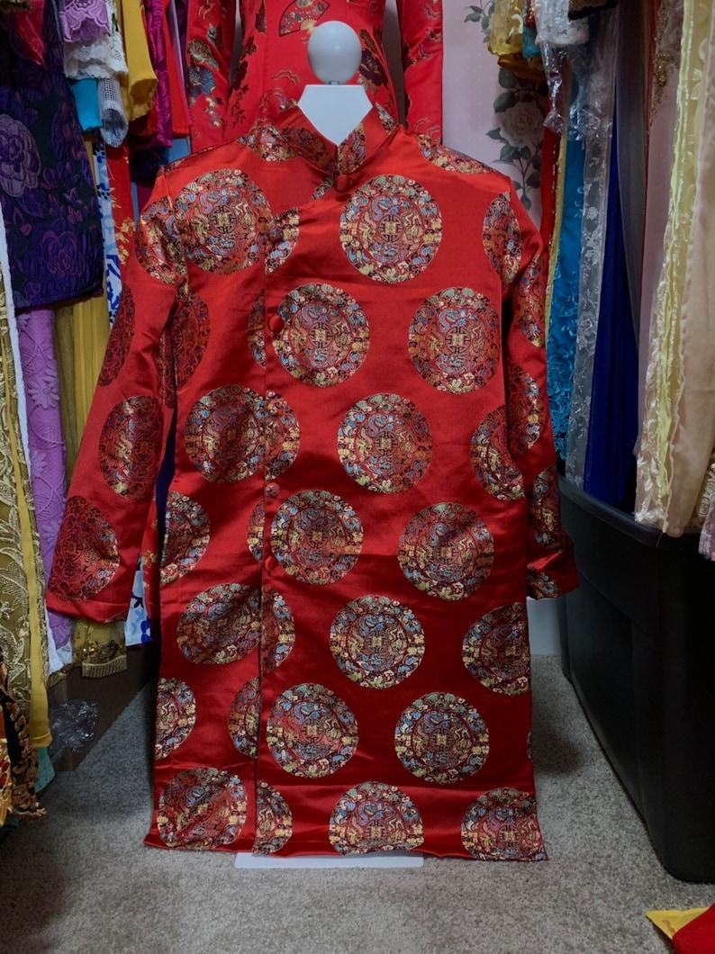 No Pants Vietnamese Traditional Men Ao Dai Painted Aodai