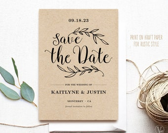 Soon to be Mr Save the Date Cards kraft rustic save-the-date cards black kraft white kraft save the dates outside country chic cards /& Mrs