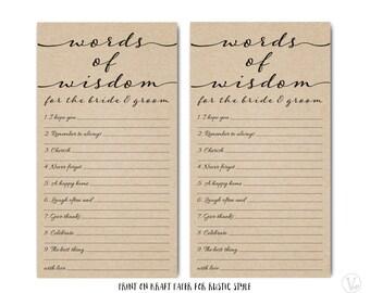 Wedding Advice Card Template Printable Advice Card Diy Etsy