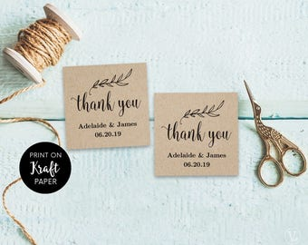 wedding favor tag template printable wedding favor tags thank you tag rustic favor tags 2x2 inches ft13 vw01