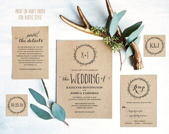 Diy wedding invites | Etsy