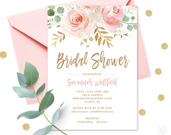 Printable Bridal Shower Invitations Etsy