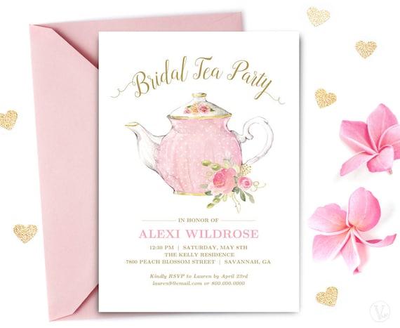 Bridal Tea Party Invitation Template Printable Bridal Tea Etsy
