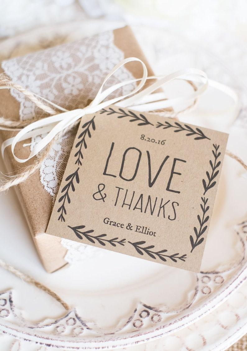 Rustic Wedding Favor Tags Printable Favor Tag Template Kraft Etsy