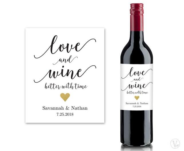 Wine Bottle Labels Printable Wine Bottle Label Template | Etsy