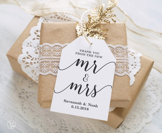 Favor Tags Printable Wedding Favor Tags Template Thank You Etsy