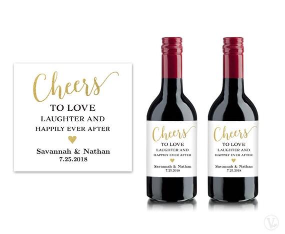 Mini Wine Bottle Labels Printable Wine Bottle Label Template | Etsy