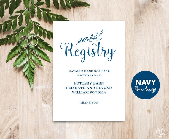 How Many Gifts To Register For Wedding: Gift Registery Card Template Printable Wedding Registry