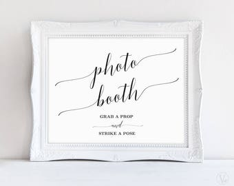 Photo Booth Sign, Wedding Photo Booth Sign, Wedding Reception Sign