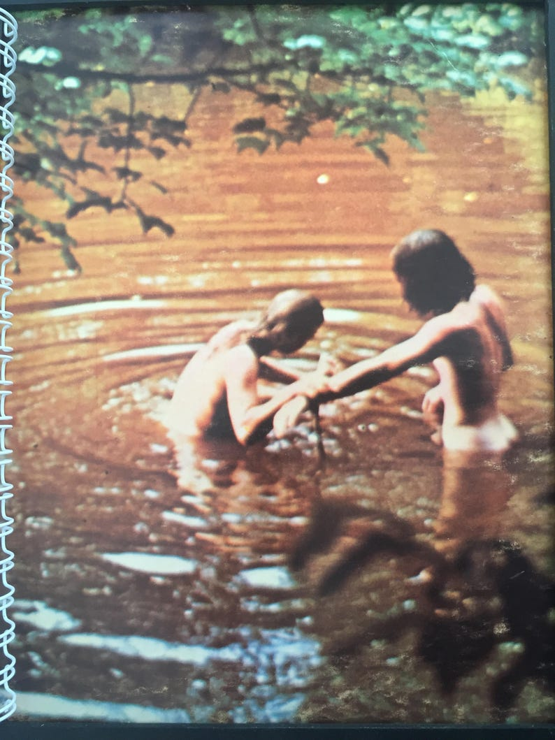 for the WOODSTOCK soundtrack CONCERT skinny dipping fan / Vintage Album  Cover Notebook /rare LP vinyl artwork