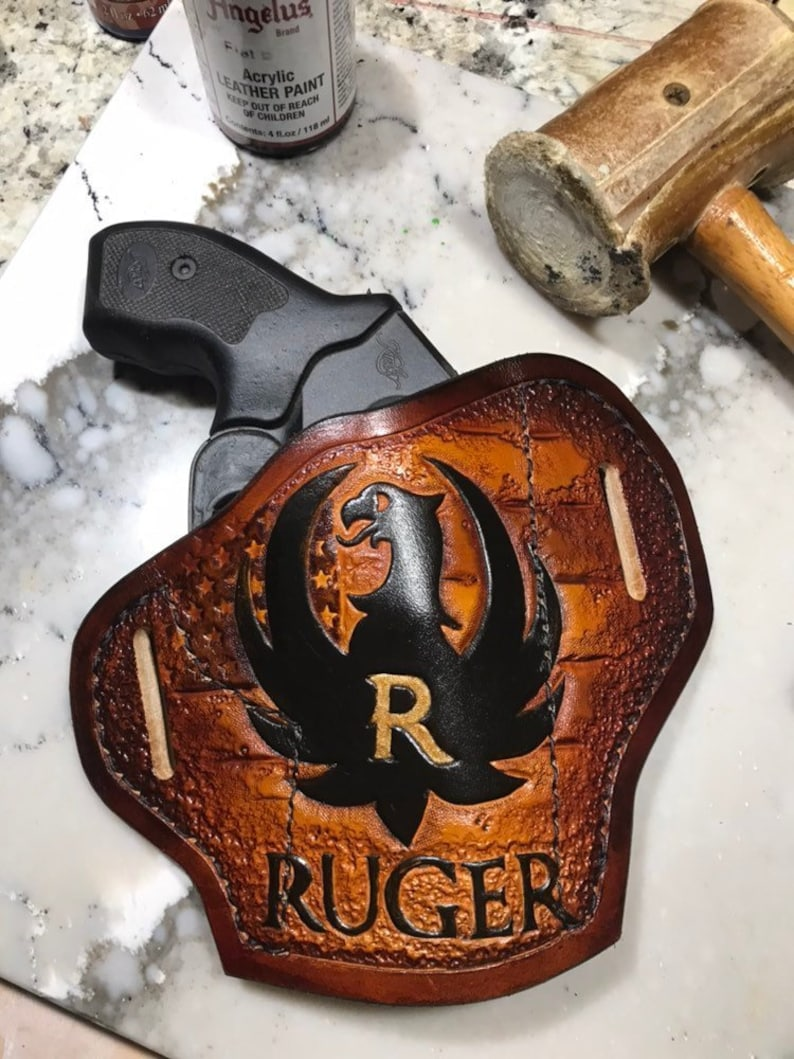 Ruger Leather Holster, Custom leather gun holster