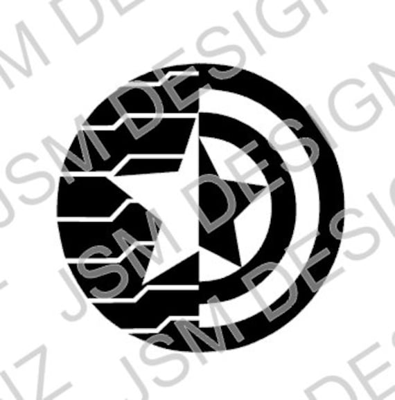 Free Shipping Winter Soldier Captain America Mash Up Decal Etsy