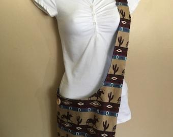 New** Tan Southwestern Cross body/Hobo Bag
