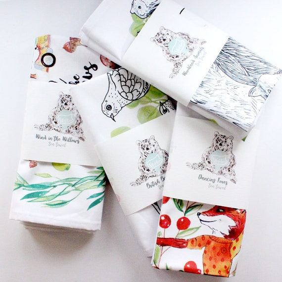 Wind in the Willows Hygge Animal Wildlife 100/% Cotton Tea Towel Christmas Gift