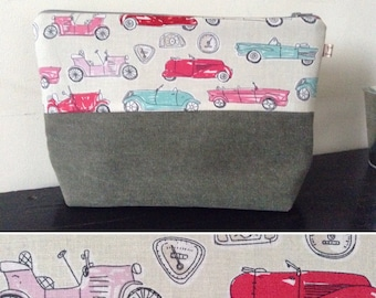Toilet bag fully waterproof with inside pocket fabric lining